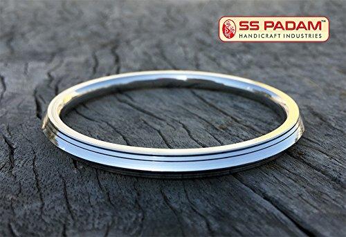 SS Padam Handicraft Industries Premium Stainless Steel Sikh Kada for Men & Free Designer Bracelet (7.2 CM)  available at amazon for Rs.399