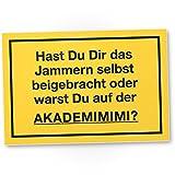 Akademimimi - Lustiges PVC Schild (30 x 20 cm), Deko, Humorvolle Wanddeko für das Zimmer und Büro, Geschenkidee Geburtstagsgeschenk beste Freundin oder Kollegin, Witzige Dekoration als Dein Geschenk