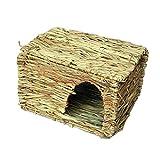 Lazzykit Faltbar Grasnest Grashaus Grasröhre für Kleinetiere Mäuse Hamster Meerschweinchen