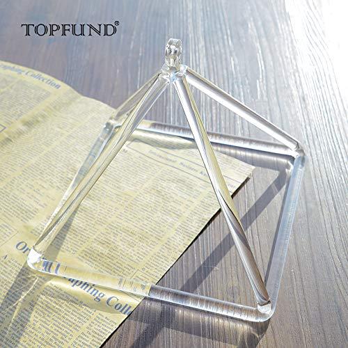 TOPFUND Quarzo Cristallo Canto Piramide 8 Inch(20CM)-Strumento Musicale Perfetta Guarigione