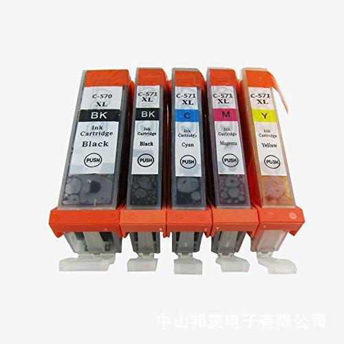 Generisch Kompatible Tintenpatronen Ersatz für Canon PGI 570XL 570 XL CLI 571XL 571 PGI-570 PGI-570XL CLI-571 CLI-571XL PGI-570XL CLI-571XL Tintenpatronen Hohe Kapazität kompatibel für Canon PIXMA MG7700 MG7750 MG7751 MG7752 MG7753 Tintenpatronen für Inkjet Drucker (1 Grossen Schwarz,1 Klein Schwarz,1 Cyan,1 Magenta,1 Gelb) (Generische Tinten-patronen Für Canon)