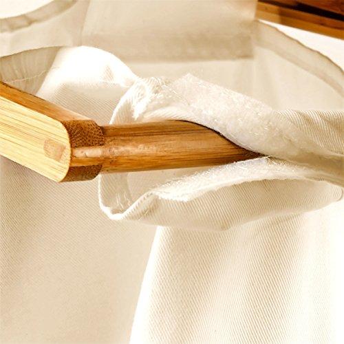 Wäschesammler mit Bambusgestell und Stoffbeutel - 6