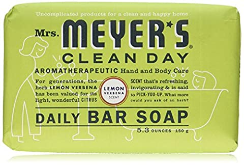 Mrs Meyers Bar Soap Lemon Verbena 5.3 Ounce (156ml)