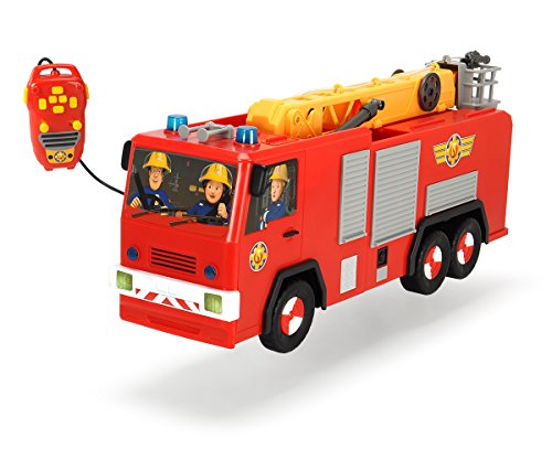 feuerwehrmann sam ferngesteuert Dickie Toys 203099001 - Feuerwehrmann Sam Hero Jupiter, kabelgesteuertes Feuerwehrauto, 62 cm