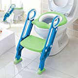 Aitsite sedile vasino riduttore WC per Bambini con Scaletta Vasino con Cuscino Kit Toilette Trainer Step Cervo Sika
