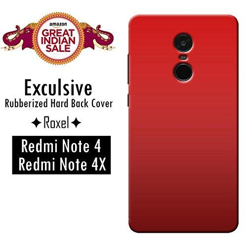 Redmi Note 4 (Gold, 64 GB)/Redmi Note 4 (Black, 64 GB)/Redmi Note 4 (Gold, 32 GB)/Redmi Note 4 (Dark Grey, 64 GB)/Redmi Note 4 (Lake Blue, 64 GB)/Redmi Note 4 (Black, 32 GB)/Redmi Note 4 (Gold, 32 GB) Roxel Exclusive 3D Hard Back Case Cover For Redmi Note 4 (Gold, 64 GB)/Redmi Note 4 (Black, 64 GB)/Redmi Note 4 (Gold, 32 GB)/Redmi Note 4 (Dark Grey, 64 GB)/Redmi Note 4 (Lake Blue, 64 GB)/Redmi Note 4 (Black, 32 GB)/Redmi Note 4 (Gold, 32 GB) -Red
