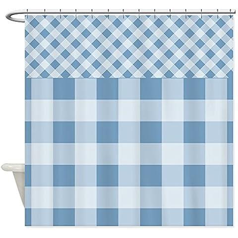 CafePress–Tenda da doccia tramonto Quadretti Blu Tenda Doccia, colore: