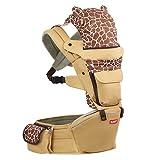 SUNVENO Babytrage Hüftsitz Multifunktionaler Baby Tragetasche Babytrage Baby Fördermaschine Rucksack mit Abnehmbar Sitz (Kaffee)