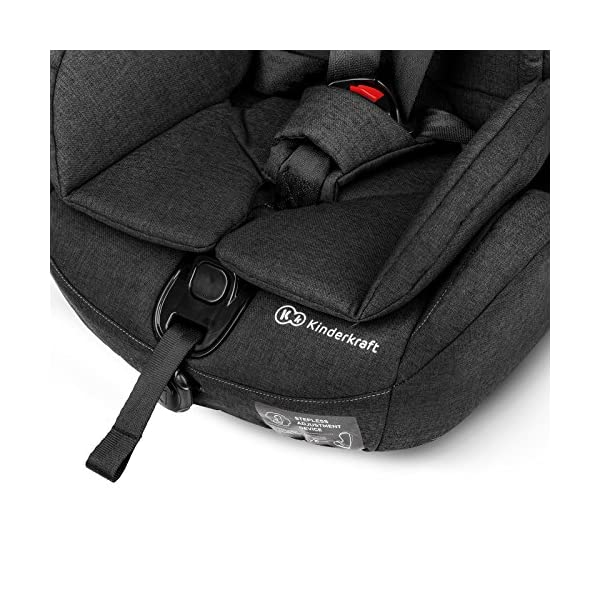 Kinderkraft Safety Fix Baby Car Seat ISOFIX, for Children Weighing 9-36kg - Black kk KinderKraft Car Seat - The Safety-Fix car seat grows together with your child. Secure - Equipped with fixing system ISOFIX + TOP TETHER, which guarantees a stable and safe position for your child. Comfort - Hight adjustable 5-point internal harness and 10-step adjustment headrest means the seat will serve your child for years. 12