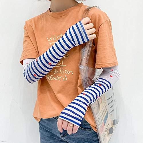 Hermosa niña manga de hielo protector solar mano manguito manga delgado equipo al aire libre pequeña belleza guantes de verano artefacto estilo lindo kawaii @ b