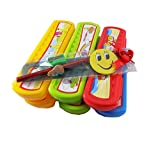 Best Return Gifts SET OF 12 Pencil Box with 12 Stationary Kit Ruler,Eraser Scale Sharpener AND 12 BIRTHDAY POLY Bags Free