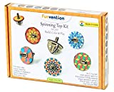 #3: Funvention Spin Table Top Kits - Set of 6 DIY Self Assembly Educational Puzzle Wooden Tops Kit - Coloring & Gravity Leanring Kit for Kids - Birthday Return Gift - Fun Desk Toys – STEM Learning Kit