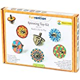[Sponsored]Funvention Spin Table Top Kits - Set Of 6 DIY Self Assembly Educational Puzzle Wooden Tops Kit - Coloring & Gravity Leanring Kit For Kids - Birthday Return Gift - Fun Desk Toys – STEM Learning Kit