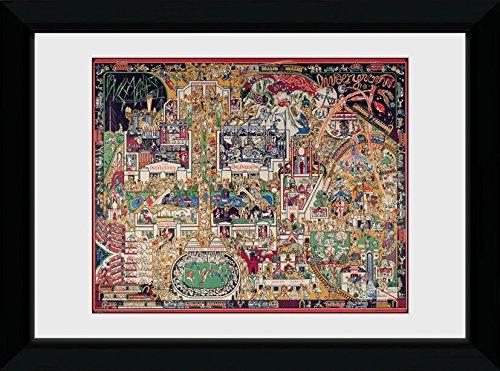 GB Eye Ltd Transport for London, Empire, encadrée, 50 x 70 cm, Bois, différents, 55 x 75 x 2.9 cm