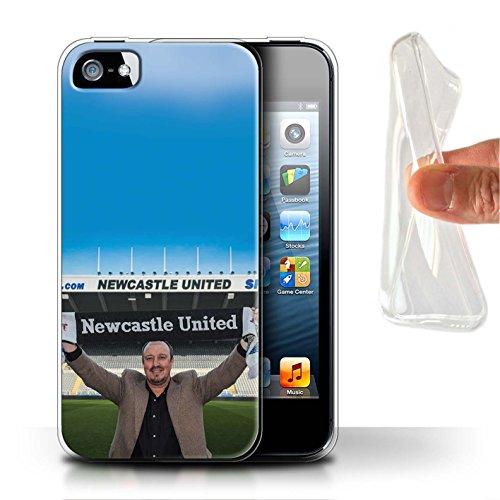 Officiel Newcastle United FC Coque / Etui Gel TPU pour Apple iPhone SE / Pack 8pcs Design / NUFC Rafa Benítez Collection Bienvenue