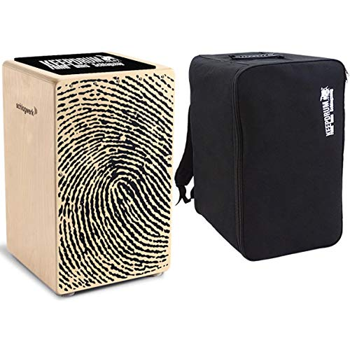 Schlagwerk CP 107 X-One Fingerprint Cajon + keepdrum Rucksack-Tasche + Sitzpad