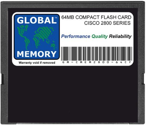 GLOBAL MEMORY 64 MB Compact Flash Card Speicher für Cisco 2800 Series Router (Cisco P/N MEM2800-64 CF) (Series Cisco 2800)