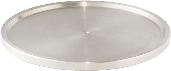 WENKO 2334100 Schrankrondell Uno - mit Drehteller, Edelstahl rostfrei, Silber matt
