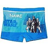 Badehose / Badeshorts - Star Wars - incl. Name - Größe 4 bis 5 Jahre - Gr. 110 bis 116 - für Jungen Kinder Badepants - Boxershorts Shorts mit Bein - Pants..