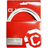 "Clarks Universal Bicycle Bike Brake Cables Kit - Stainless Steel, Shimano and Campagnolo ""WHITE"""