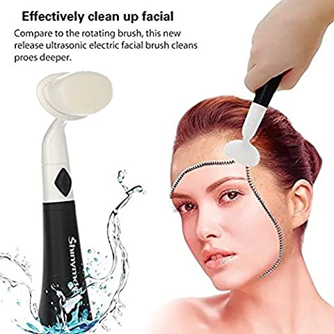 Shinymod Ultrasonic Electric Facial Cleansing Brush Face Massage Ultra Soft