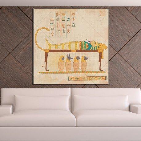 Herrlichkeit Bild (Bild Herrlichkeit eines Pharao–80x 80cm)