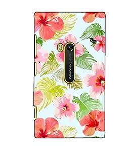 Fuson Designer Back Case Cover for Nokia Lumia 920 :: Micosoft Lumia 920 (Hibiscus flower pattern)