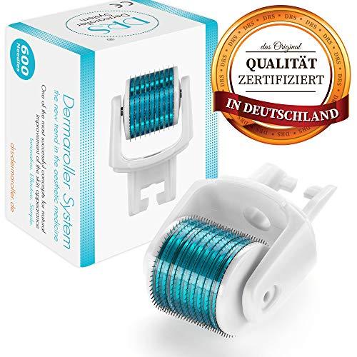 DRS Ersatzkopf mit 600 Nadeln für alle DRS Dermaroller mit wechselbarem Aufsatz - das Original, Nadeln aus Edelstahl, Gebrauchsanweisung auf Deutsch und Englisch, Nadellänge:0.50mm