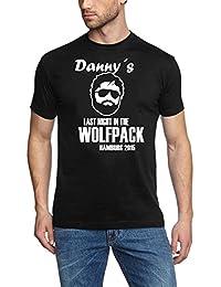 WOLFPACK mit euren Namen und Rückennummer Junggesellenabschied personalisiert T-Shirt S M L XL 2XL 3XL 4XL 5XL