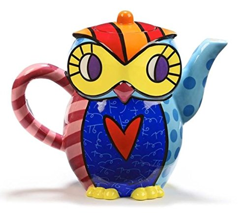 Romero Britto Teapot, Owl by Gift Craft