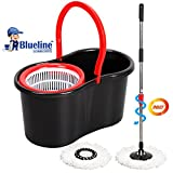 #8: Blueline Cleaning Experts Plastic Magic Spin Mop Set,4 Pieces, Black