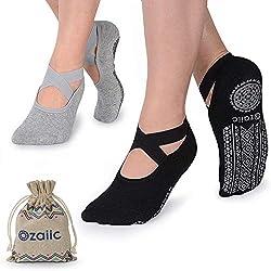 Ozaiic Yoga Socken für Damen rutschfeste, Ideal zu Pilates, Rein Barre, Ballett, Tanz