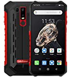 """(2019) Ulefone Armor 6S - Android 9.0 Smartphone Rugged 4G,Helio P70 Octa-core Outdoor Cellulare 6GB + 128GB, 6,2"""" FHD + Schemo Notch, ricarica wireless supportata, impermeabile IP68, GPS/NFC Rosso"""