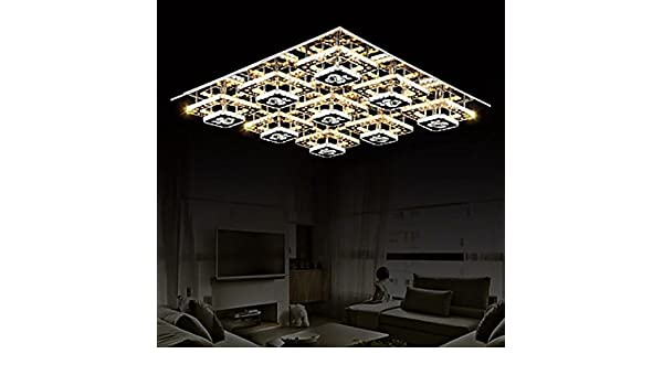 Plafoniere Con Strass : Lookshop plafoniera led quadrato con strass in cristallo amazon
