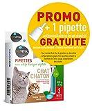 Biovetol pipeta antipulgas para gato y gato (250g a 5kg)–3x 1ml