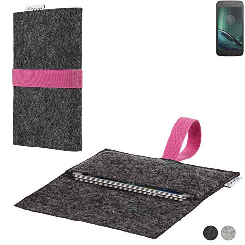flat.design Handy Hülle Aveiro für Lenovo Moto G Play passgenaue Filz Tasche Case Sleeve Made in Germany