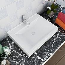 amazon.fr : vasque de salle de bain rectangulaire - Vasque Rectangulaire Salle De Bain