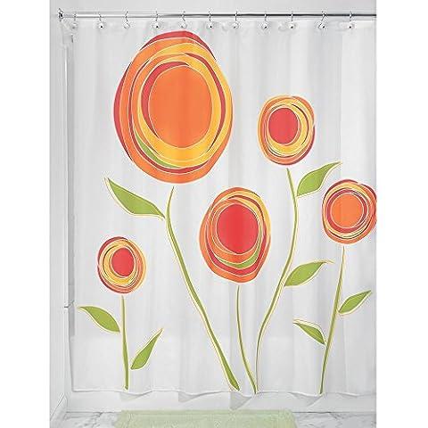 BBFhome ourlet lesté Rideaux de douche Rideau 120 x 180 Marigold Tissu Rideau de douche Orange Rouge