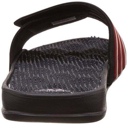 adidas Herren Adissage 2.0 Stripes Flip-Flops Rot (Negbas/rojbas/granit)