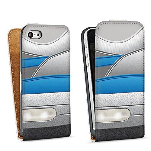 Apple iPhone 5c Housse Outdoor Étui militaire Coque Chaussures Baskets Bleu Sac Downflip blanc