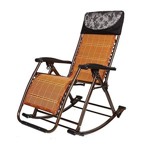 Dans les personnes âgées Loisir Chaises à bascule Chaise longue Chaises pliantes Pause déjeuner Chaises Chaise ancienne Chaises de balcon (Couleur : C)