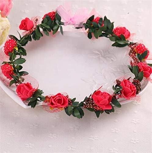 SunnyGod Ajoutez à du Style à Ajoutez Votre fête Couronne de mariée Bandeau Coiffe balnéaire Voyage Photographie Coiffe (12 Fleurs, Rouge) dcb3f9