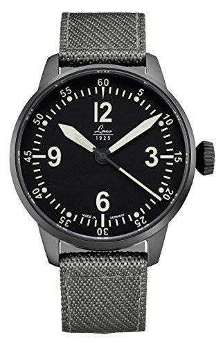 Laco/1925 Men's 'Cockpitwatch' Japanese Automatic Stainless Steel and Nylon Casual Watch, Color:Grey (Model: 861907)