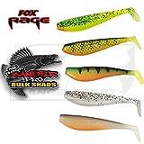 Fox Rage Zander Pro Shads Mixed Colour, 5 verschiedene Farben im Set, Gummifische, Gummiköder für...