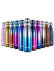 willceal - Botella de Agua de Doble Pared de Acero Inoxidable con Aislamiento al vacío, 500 ml, a Prueba de Fugas, para Mantener el frío y Bebidas Calientes, para Deportes al Aire Libre, Camping, etc
