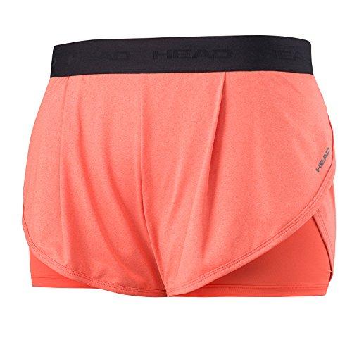 Head Vision Pantalones de Tenis, Mujer, Naranja (Corail), S