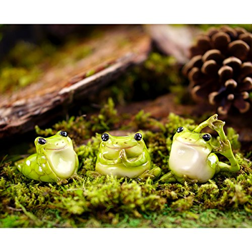 Top-Collection-Miniature-Garden-Set-of-3-Yoga-Frogs