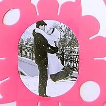 Just Contempo, cornice portafoto, plastica, Pink Flowers Multi Photo Frame, 1 x 40 x 40 cm