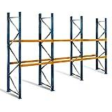 Palettenregal mit 3 Ebenen, 5 m Höhe, 8,5 m Breite - für 27 Europaletten