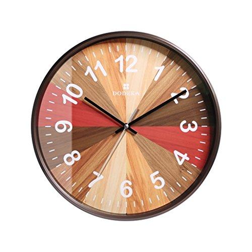 PIGE-horloge murale, Silencieux Non coutil qualité Quartz à Pile Facile à Lire Horloge Maison/Bureau/école (Taille : 12 Pouces)